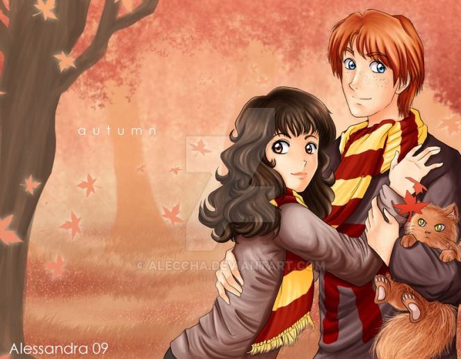 ron___hermione___autumn_by_aleccha-d29ktt8